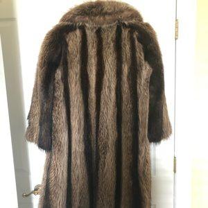 Jackets & Blazers - Real Beaver Fur Coat